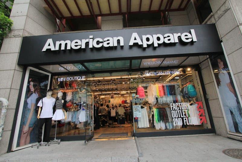 Loja americana do fato em Seoul fotografia de stock royalty free