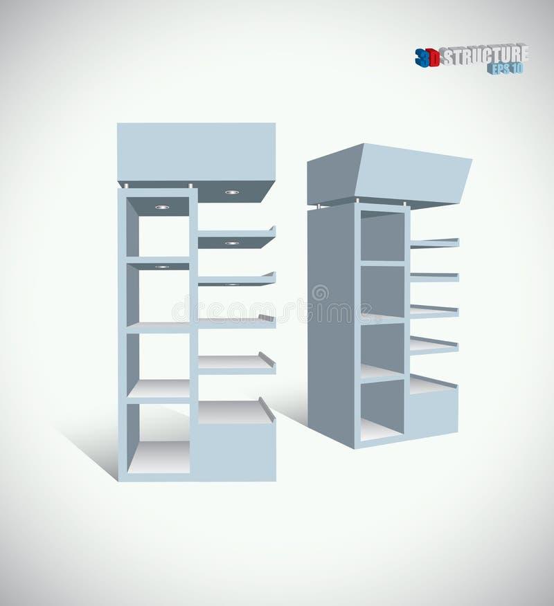 A loja arquiva a estrutura ilustração royalty free
