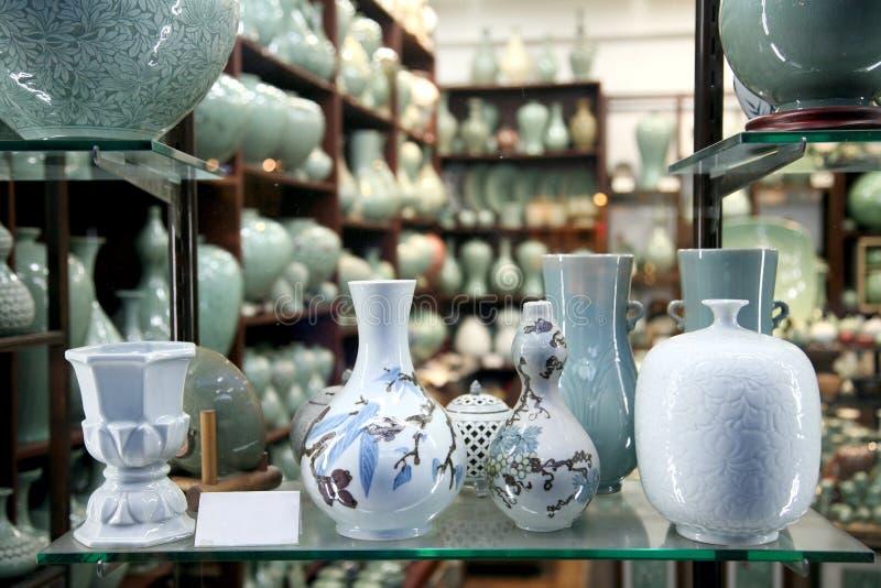 Loja cerâmica fotografia de stock