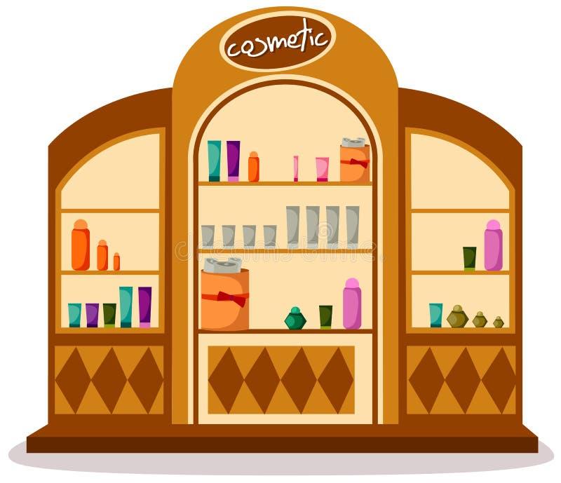 Loja cosmética ilustração royalty free