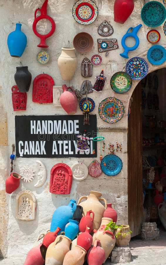 Loja da cerâmica imagem de stock