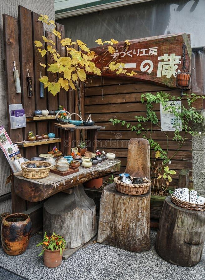 Loja da cerâmica em Kyoto, Japão imagens de stock royalty free