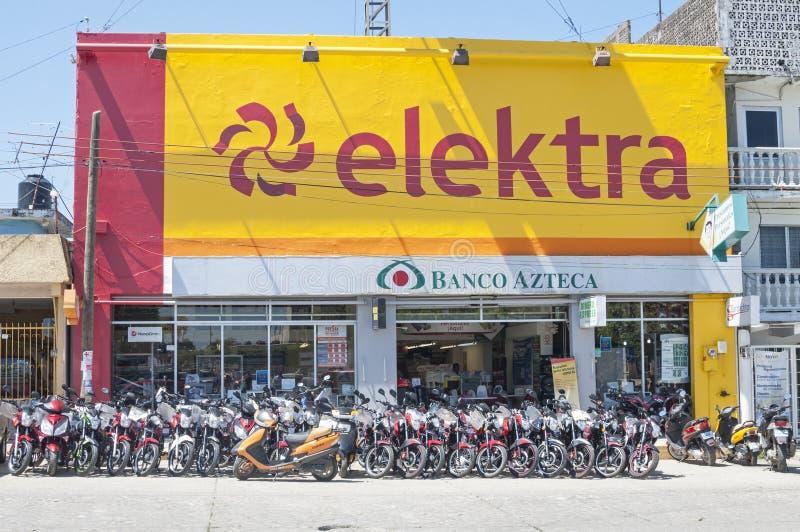 Loja da eletrônica de Elektra fotografia de stock
