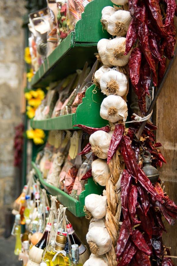 Loja da especiaria de Siena fotos de stock royalty free