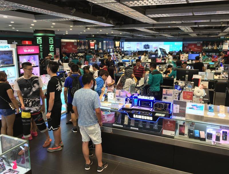 Loja da fonte da foto de Broadway, Hong Kong imagens de stock royalty free