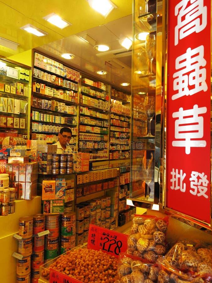 Loja da medicina chinesa imagens de stock