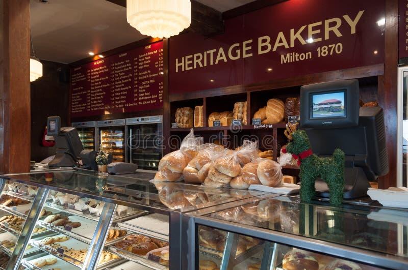 Loja da padaria da herança no subúrbio de Milton de Sydney imagem de stock royalty free