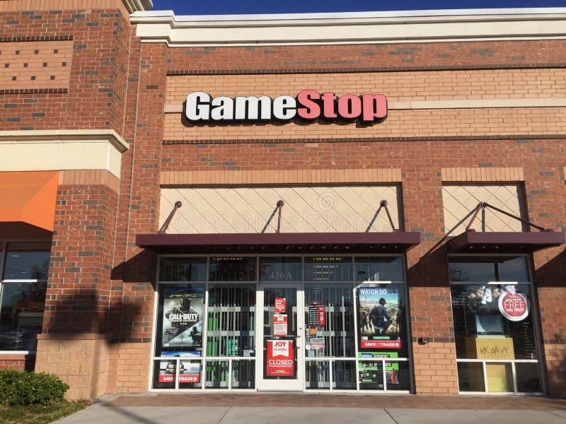 Loja da parada do jogo fotos de stock