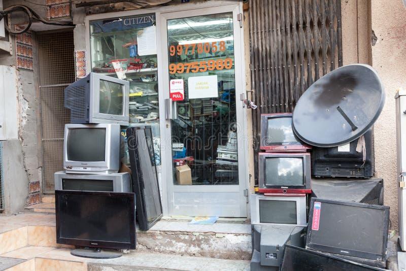 Download Loja da tevê em Nizwa, Omã imagem de stock editorial. Imagem de médio - 65576924