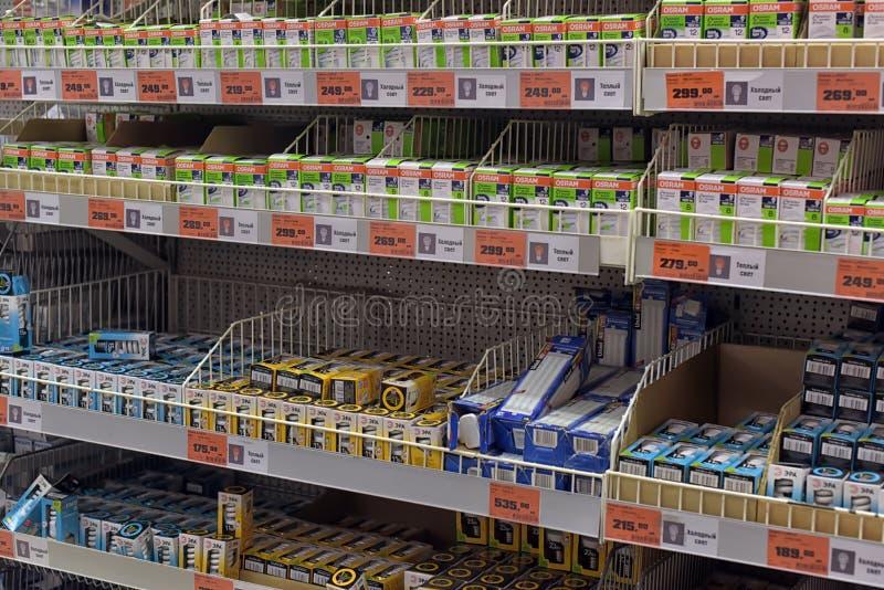 Loja das ampolas fotografia de stock
