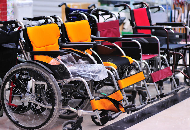 Loja das cadeiras de rodas foto de stock
