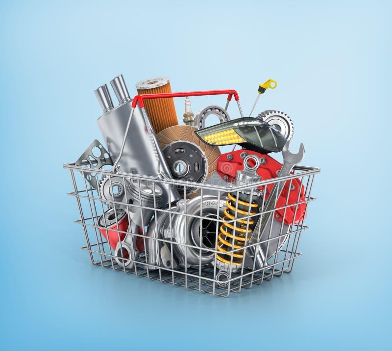 Loja das peças de automóvel ilustração do vetor