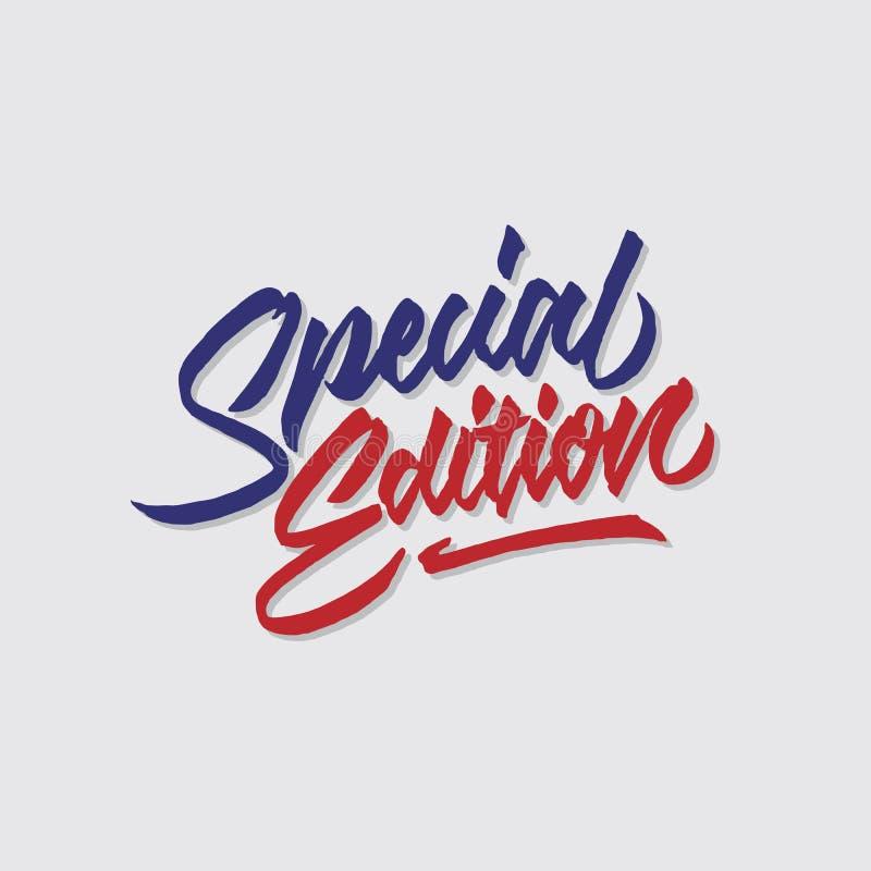 A loja das vendas e do mercado da tipografia da rotulação da mão da edição especial armazena o cartaz do signage ilustração do vetor
