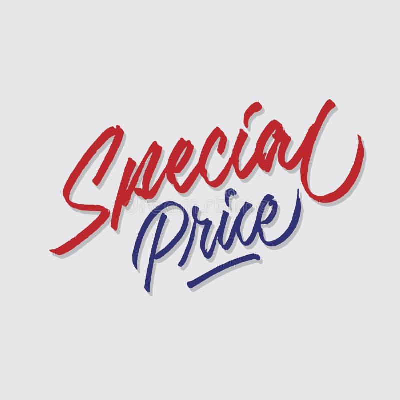 A loja das vendas e do mercado da tipografia da rotulação da mão do preço especial armazena o cartaz do signage ilustração do vetor