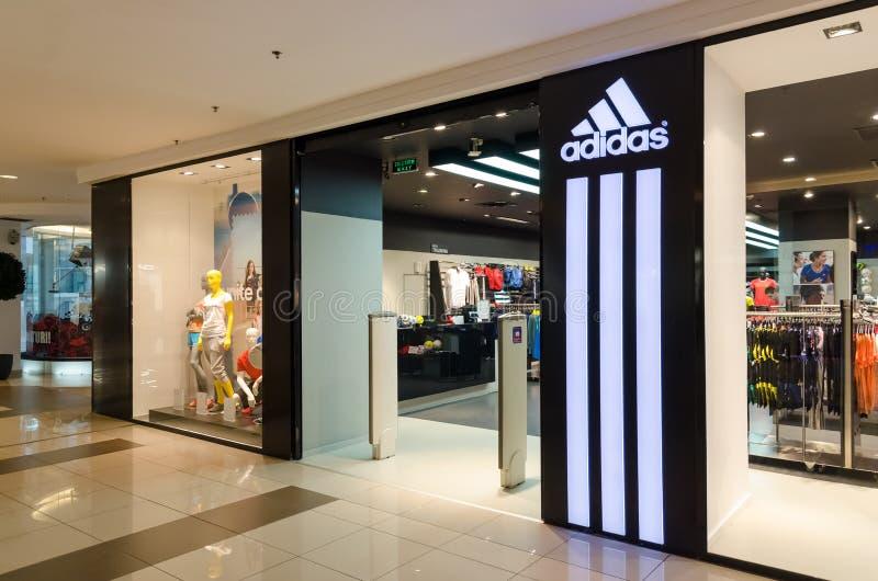 Loja de Adidas foto de stock