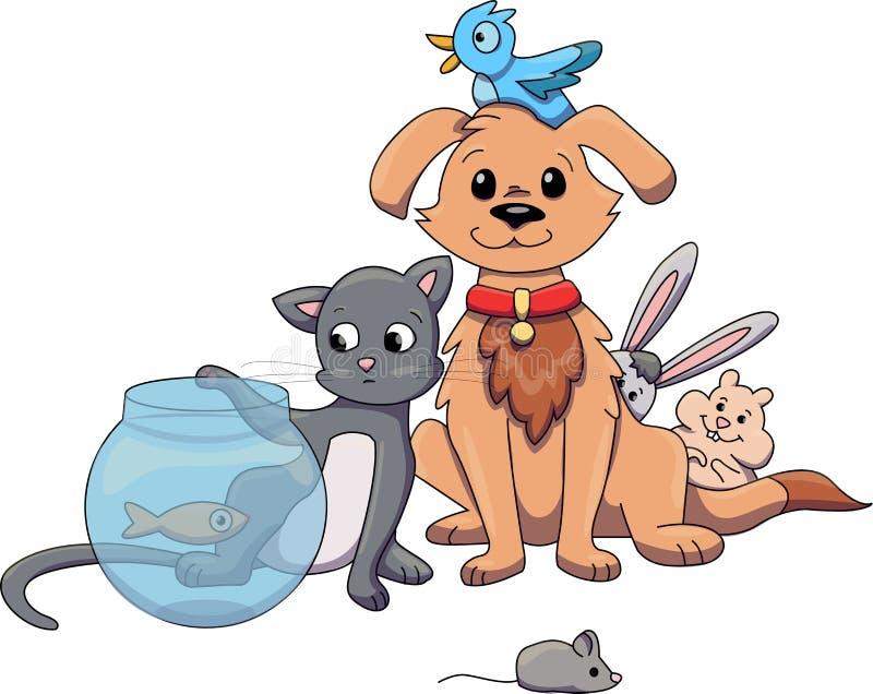 Loja de animais de estimação ilustração stock