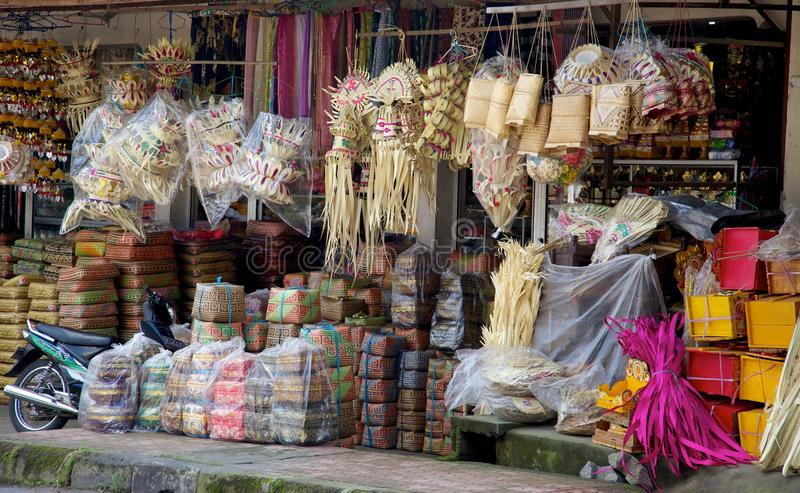 Loja de Bali foto de stock