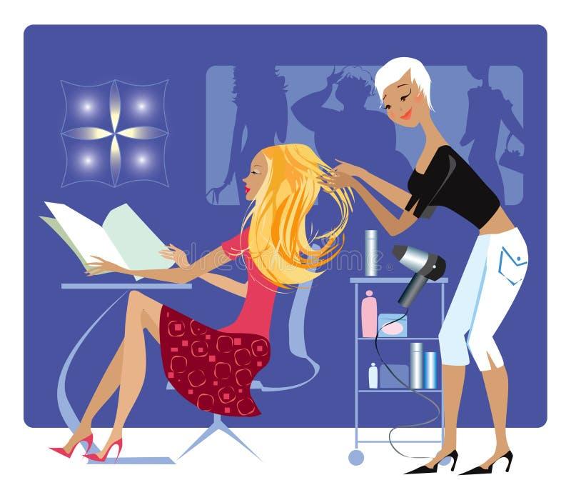 Loja de barbeiro ilustração royalty free