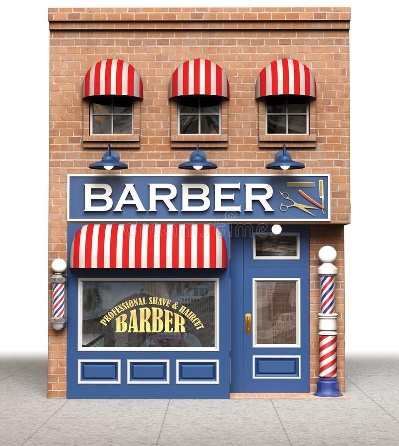 Loja de barbeiro ilustração stock