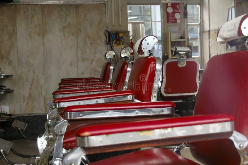 Loja de barbeiro do vintage fotografia de stock