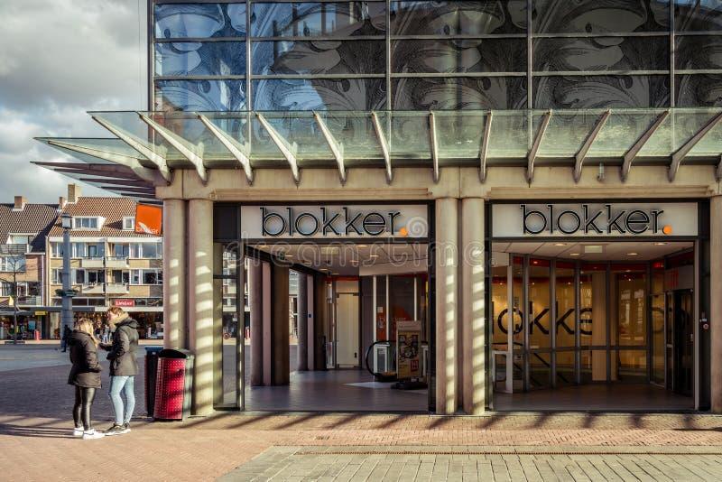 Loja de Blokker no centro de cidade de Dordrecht imagens de stock