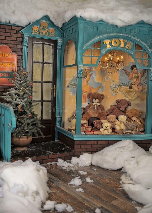 Loja de brinquedos do vintage imagens de stock royalty free