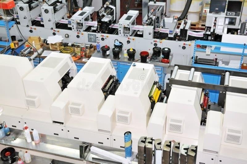 Loja de cópia: Impressão UV da imprensa do flexo foto de stock royalty free