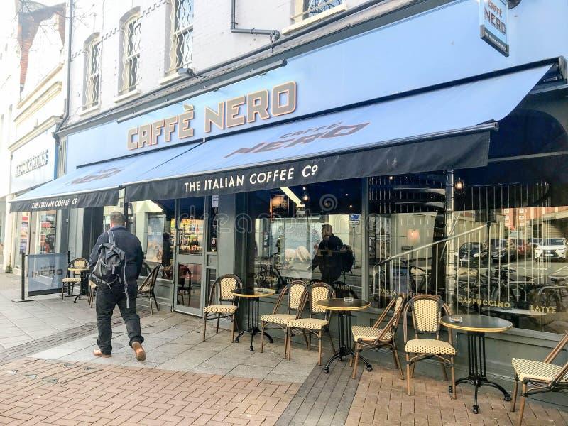Loja de Caffè Nero, Londres fotos de stock royalty free
