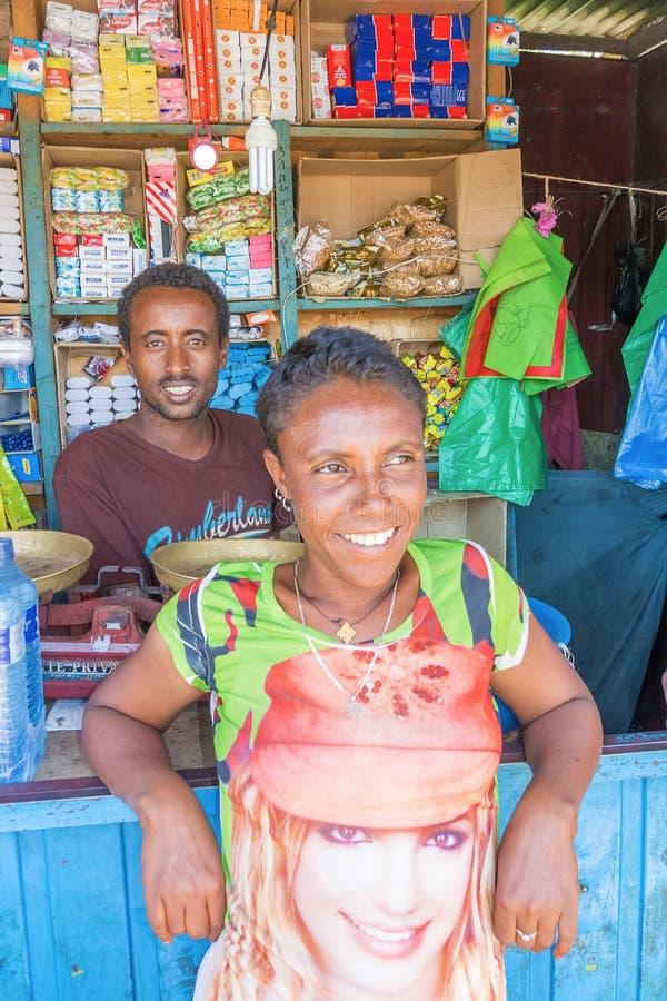 Loja de canto em Etiópia fotos de stock