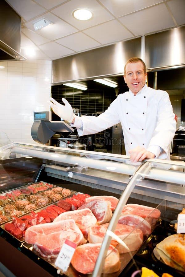 Loja de carniceiro bem-vinda fotos de stock