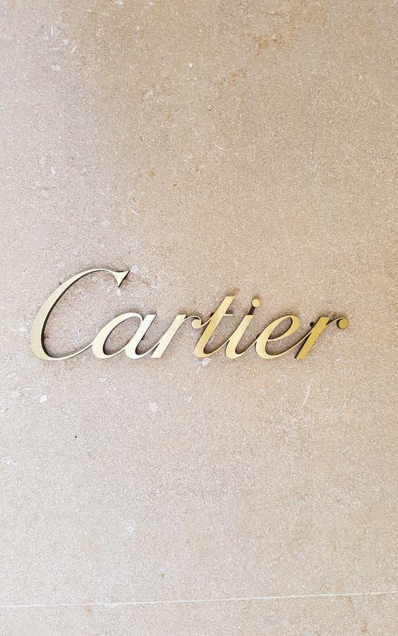 Loja de Cartier foto de stock royalty free