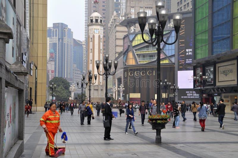 Loja de China Chongqing GUCCI fotografia de stock royalty free