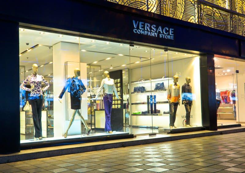 Loja de companhia de Versace fotos de stock royalty free
