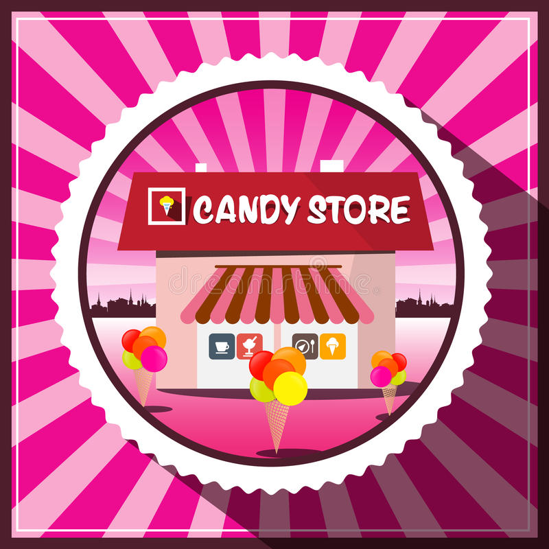 Loja de doces ilustração stock