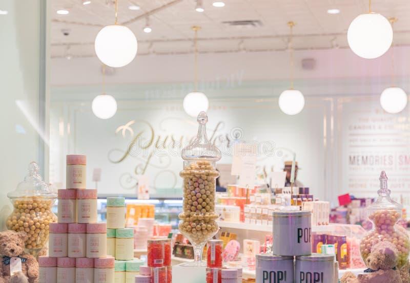 Loja de doces na alameda de Prússia fotos de stock royalty free