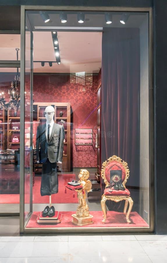 Loja de Dolce & de Gabbana em Emquatier, Banguecoque, Tailândia, o 6 de janeiro, 201 fotos de stock royalty free