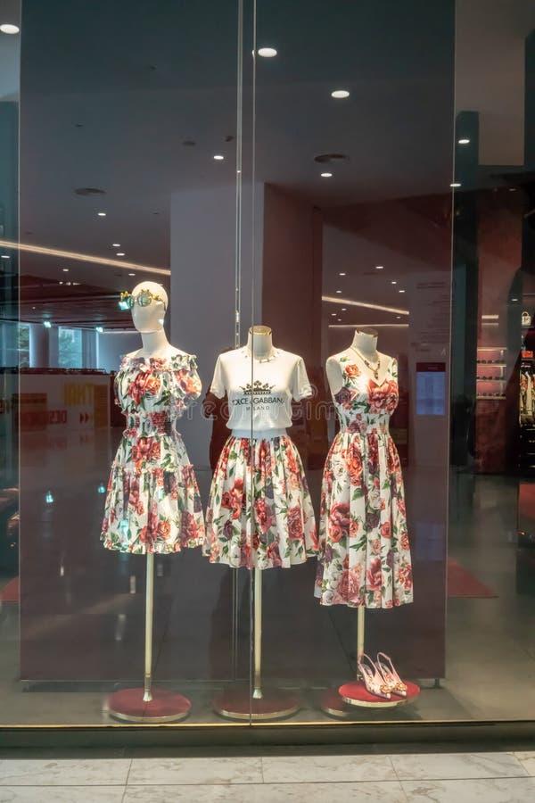 Loja de Dolce & de Gabbana em Emquatier, Banguecoque, Tailândia, o 29 de junho, 20 imagem de stock
