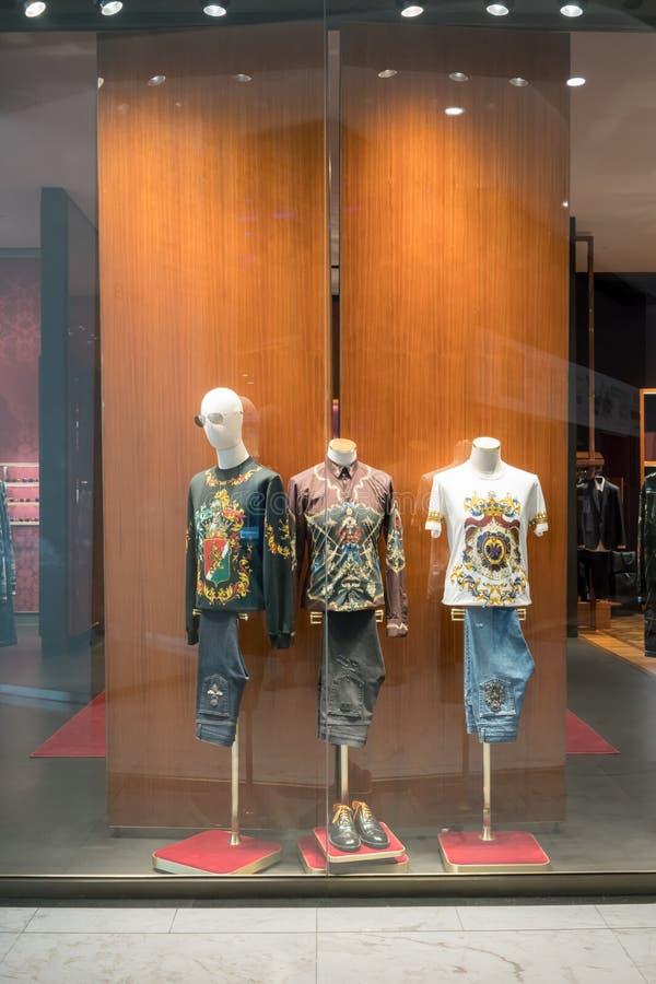Loja de Dolce & de Gabbana em Emquatier, Banguecoque, Tailândia, o 17 de novembro, 20 fotografia de stock
