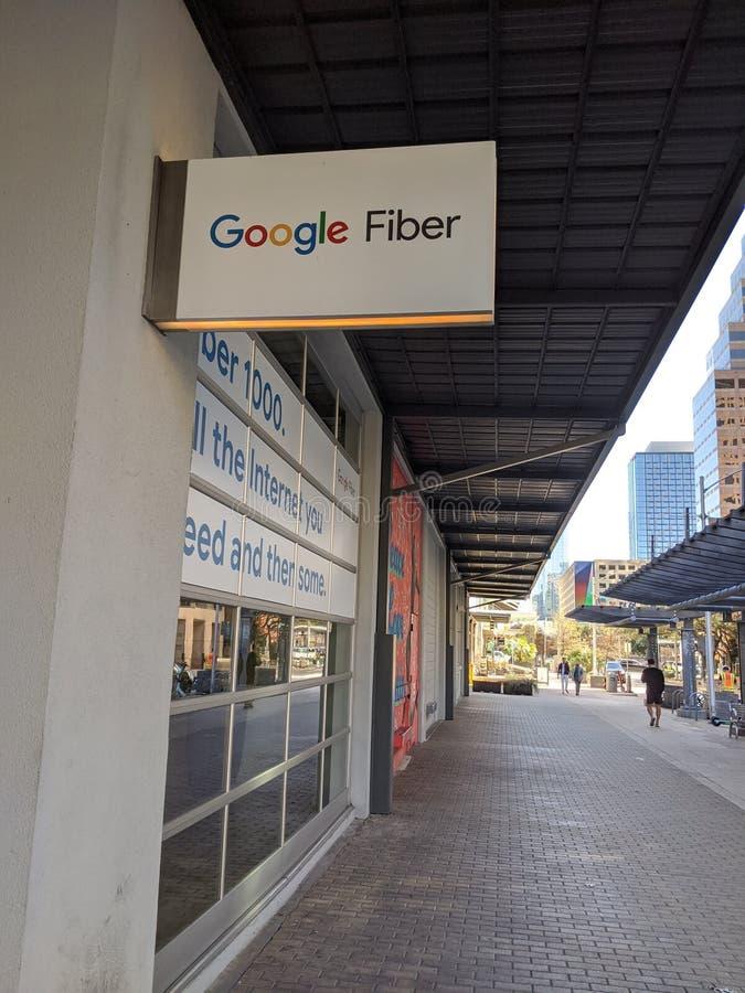 Loja de fibra Google em Austin Texas foto de stock
