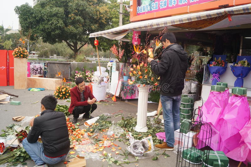 Loja de flor imagem de stock