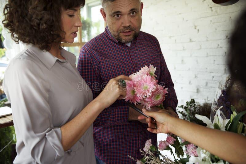 Loja de florescência varejo da planta do florista imagem de stock