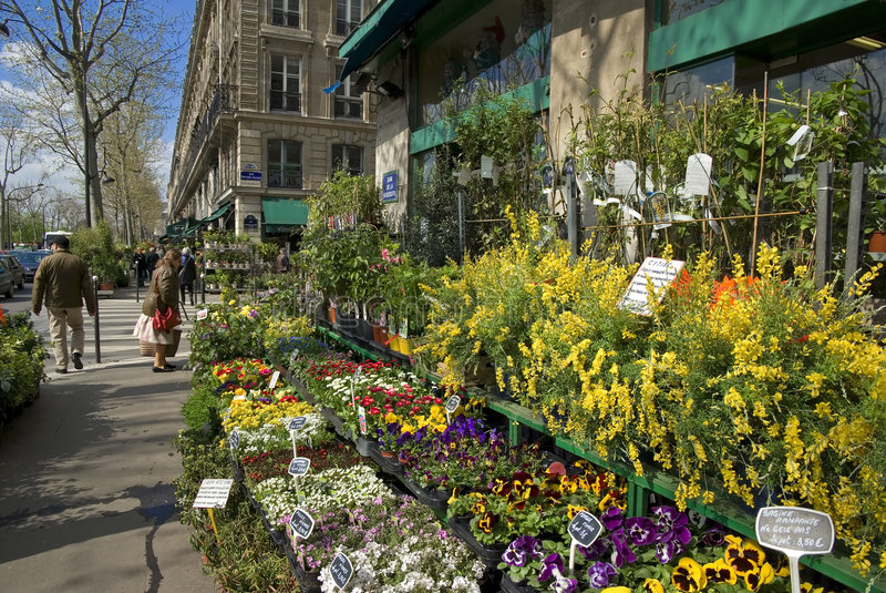 Loja de florista, Paris, France fotos de stock royalty free