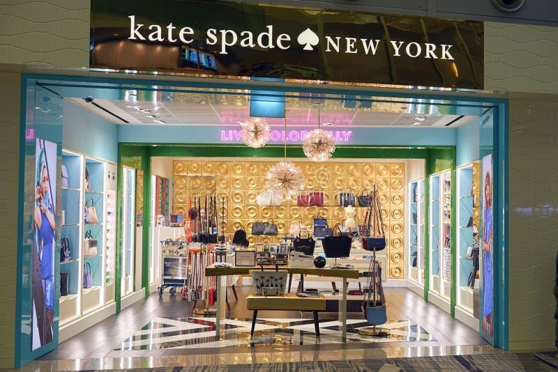 Loja de Kate Spade fotos de stock