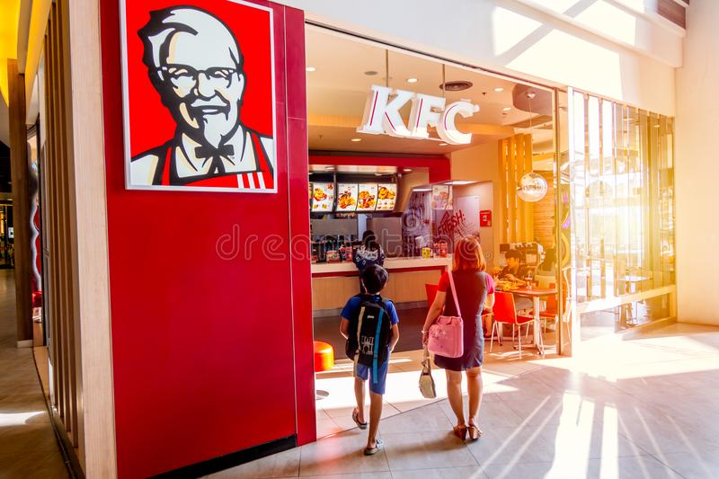 Loja de KFC Kentucky Fried Chicken foto de stock royalty free