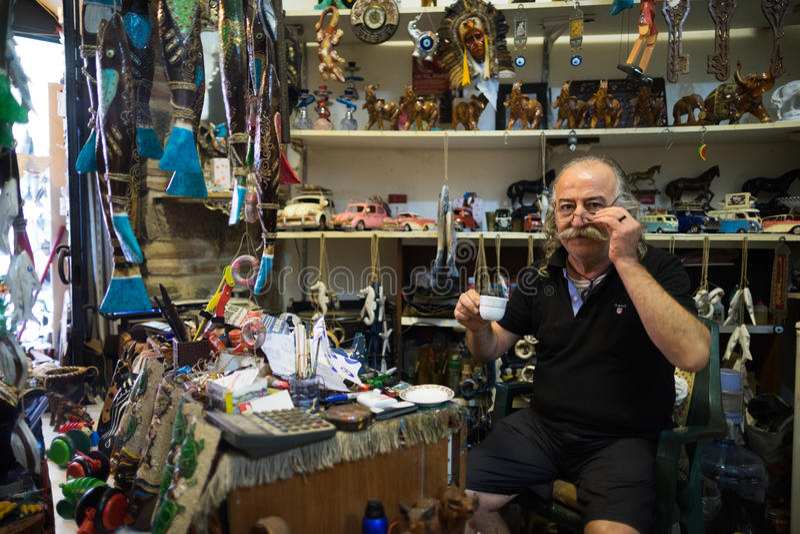 Loja de lembrança em Istambul foto de stock