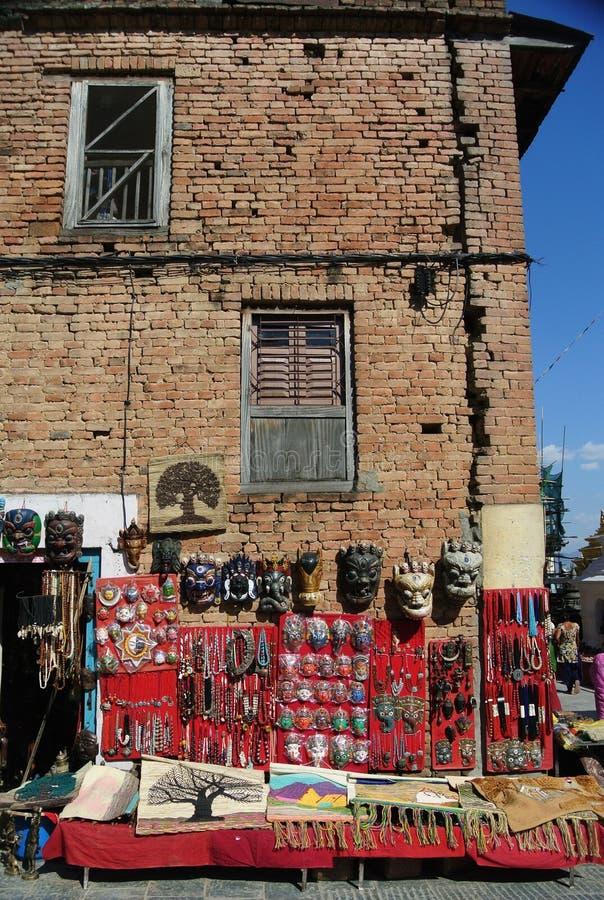 Loja de lembrança, Nepal fotografia de stock royalty free