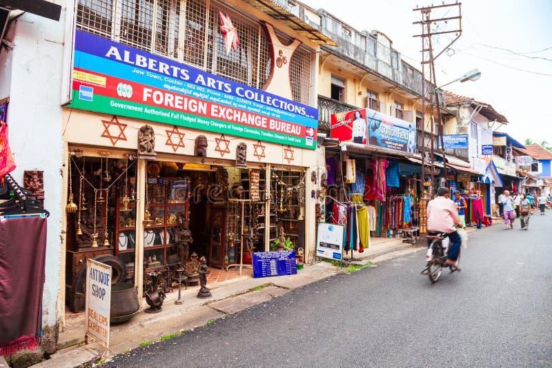 Loja de lembrança no forte Kochi, Índia foto de stock royalty free