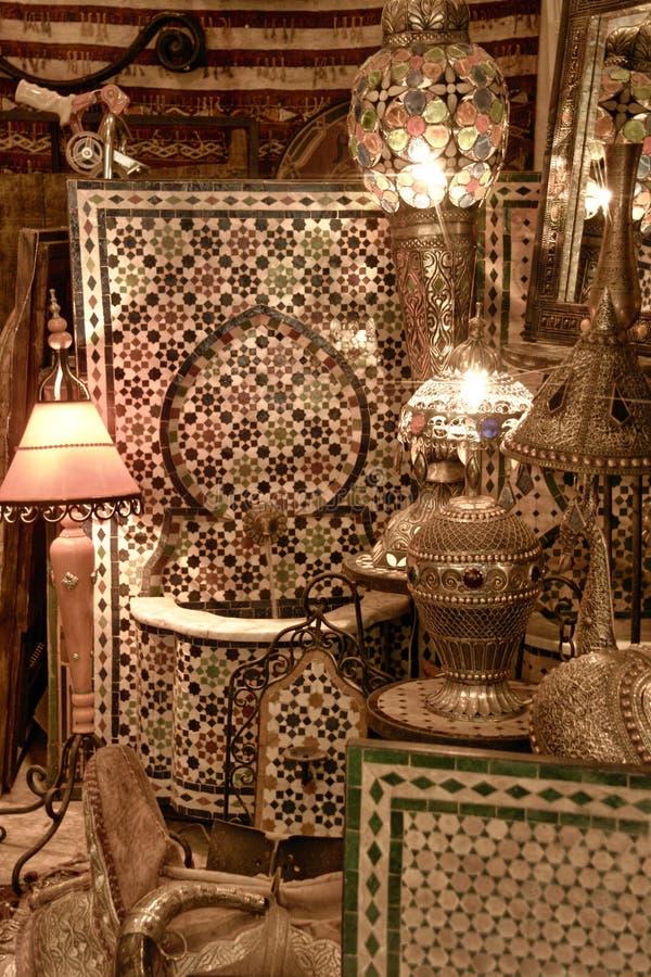 Loja de lembranças árabe fotografia de stock royalty free