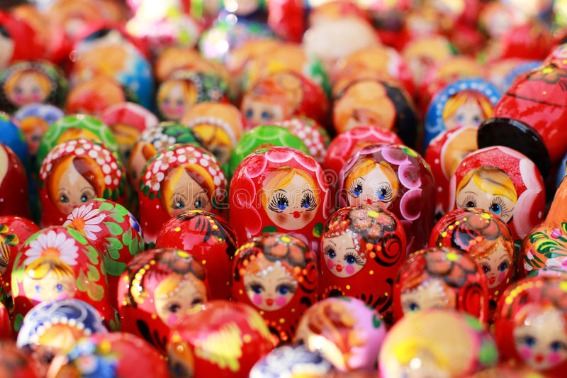 Loja de lembranças de Rússia, Moscou fotos de stock royalty free