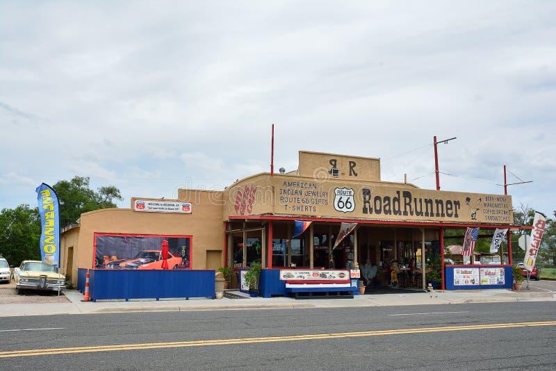 Loja de lembranças do RoadRunner na rota 66 foto de stock